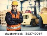 worker in protective uniform in ...   Shutterstock . vector #363740069