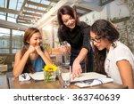 Waitress Server Helping Client...