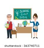 teachers man and woman... | Shutterstock .eps vector #363740711