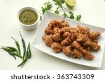 spicy fried lentil balls  ... | Shutterstock . vector #363743309