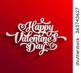 valentine day happy text... | Shutterstock .eps vector #363743627