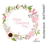 valentine s day card. vector... | Shutterstock .eps vector #363744407