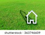 House On Green Grass White