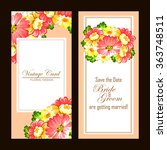 vintage delicate invitation... | Shutterstock .eps vector #363748511