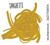 spaghetti knot with type | Shutterstock .eps vector #363750854