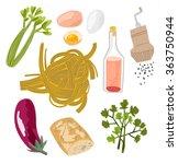 fresh italian food set with...   Shutterstock .eps vector #363750944