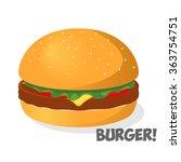 burgers illustration | Shutterstock .eps vector #363754751