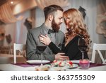 beautiful young couple with... | Shutterstock . vector #363755309