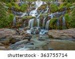 mea ya waterfall is a beautiful ... | Shutterstock . vector #363755714