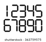 the vector of digital number | Shutterstock .eps vector #363759575