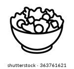garden salad with lettuce ... | Shutterstock .eps vector #363761621