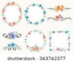 vector illustration of flower... | Shutterstock .eps vector #363762377