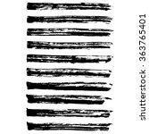 set of grunge long brush... | Shutterstock .eps vector #363765401