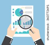 businessman hands holding a... | Shutterstock .eps vector #363772691