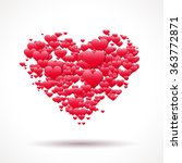 valentine's day card with heart ... | Shutterstock . vector #363772871