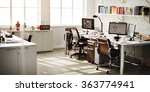 contemporary room workplace... | Shutterstock . vector #363774941