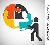 collaborative concept design  | Shutterstock .eps vector #363777449