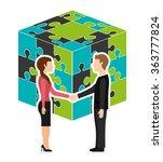 collaborative concept design    Shutterstock .eps vector #363777824