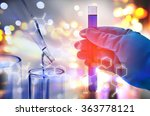 double exposure of scientist... | Shutterstock . vector #363778121
