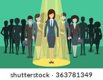 businesswoman in spotlight.... | Shutterstock .eps vector #363781349