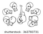 Boxing Gloves. Equipment For...