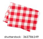 kitchen towel. isolated on... | Shutterstock . vector #363786149