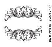 vintage baroque frame scroll...   Shutterstock .eps vector #363788447