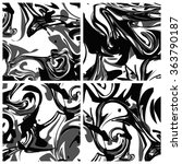 black and white marbling... | Shutterstock .eps vector #363790187