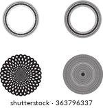 vector circles elements . | Shutterstock .eps vector #363796337