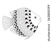 patterned vector exotic fish in ... | Shutterstock .eps vector #363800399