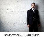 portrait of bearded gentleman... | Shutterstock . vector #363803345