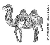 Zentangle Camel Design For...