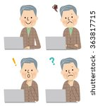 senior man using laptop computer | Shutterstock .eps vector #363817715