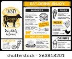 restaurant brochure vector ... | Shutterstock .eps vector #363818201