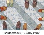 creative team group people... | Shutterstock .eps vector #363821909