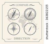 compass rose retro design... | Shutterstock .eps vector #363822155