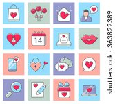 valentines day icons  love ...   Shutterstock .eps vector #363822389