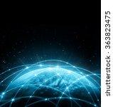 best internet concept of global ... | Shutterstock . vector #363823475