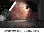 empty photo studio with... | Shutterstock . vector #363824849