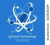 atom model on blue   text ... | Shutterstock .eps vector #363828209