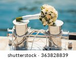 wedding bouquet with roses on...   Shutterstock . vector #363828839