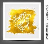 golden banner happy valentine's ...   Shutterstock .eps vector #363828971