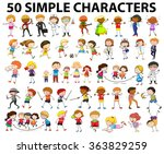 characters of man and woman... | Shutterstock .eps vector #363829259