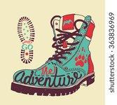 "vector poster ""the adventure""... | Shutterstock .eps vector #363836969"
