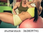 personal fitness coach trains... | Shutterstock . vector #363839741