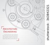 vector technical blueprint of ... | Shutterstock .eps vector #363842321
