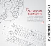 Vector Technical Blueprint Of ...