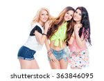 beauty and friendship. three... | Shutterstock . vector #363846095