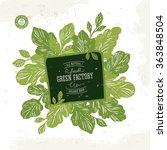 green shop design template.... | Shutterstock .eps vector #363848504