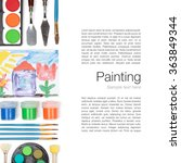 painting tools  brushes ... | Shutterstock . vector #363849344
